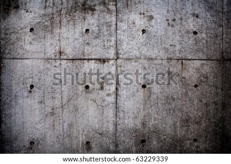 Grungy concrete wall. - stock photo