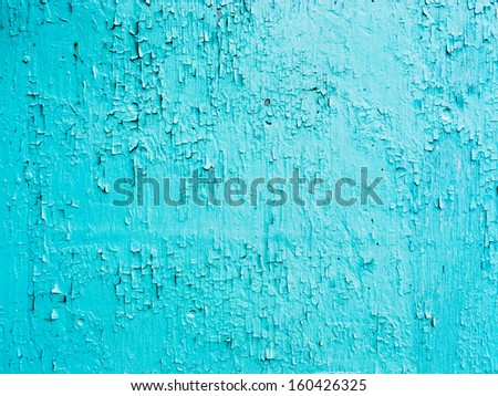 Grungy cracked and chipping blue paint background texture pattern abstract - stock photo