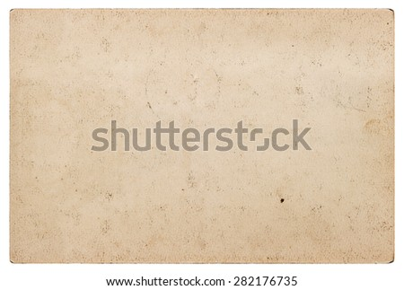 Grungy craft paper texture. Used cardboard isolated on white background. Scrapbook object - stock photo