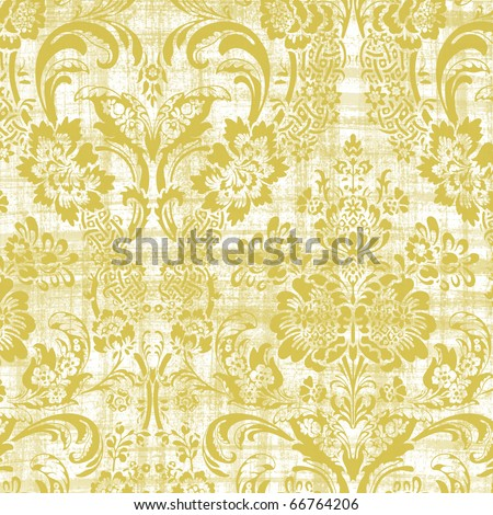 Grungy Damask - stock photo