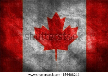 Grungy dirty Canadian flag - stock photo