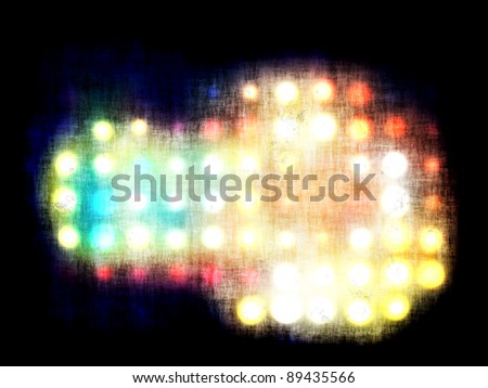 grungy dotted blurred background of colored lights - stock photo