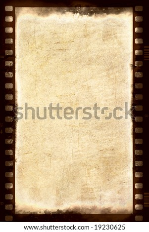 Grungy film strip background - stock photo