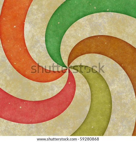 grungy five point spiral on a brown textured background - stock photo