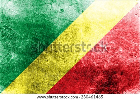 Grungy Flag of the Republic of the Congo
