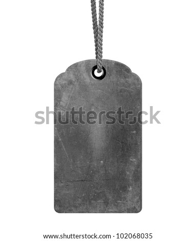 grungy gray price tag background, sale or old price conceptual image. - stock photo