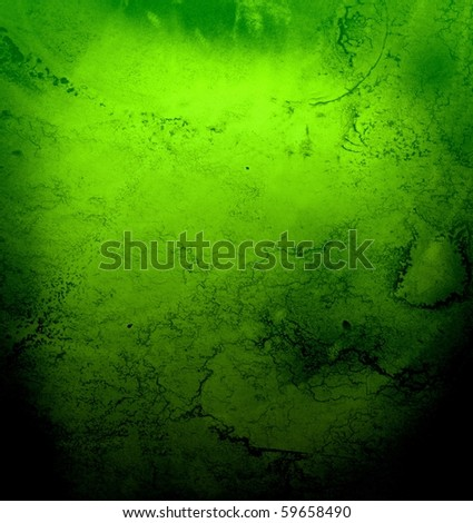 Grungy green abstract - stock photo