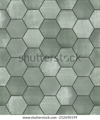 Grungy Hexagonal Tiled Seamless Texture - stock photo