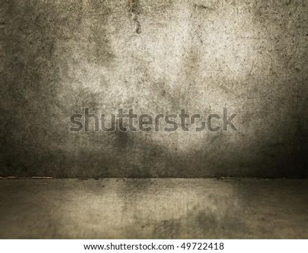 grungy masonry room - stock photo