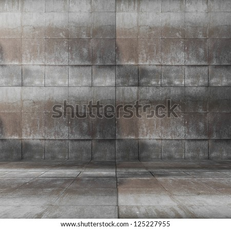 grungy modern interior - stock photo
