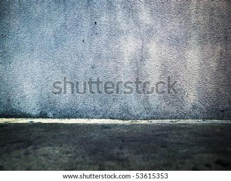 Grungy mortar wall - stock photo