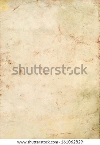 grungy old and stained paper background - stock photo