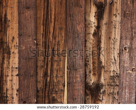 grungy old barn boards - stock photo