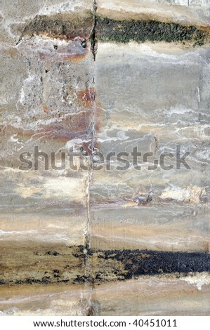 grungy old cement wall with a lot of textures and colors