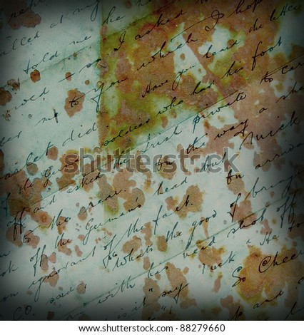 Grungy old font letter texture - stock photo