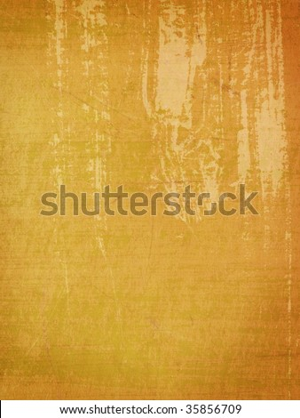 grungy orange wall with paint streaks