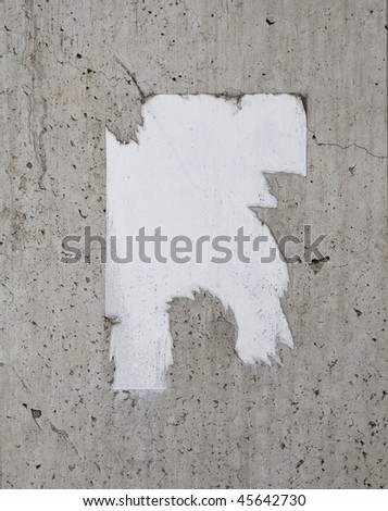 grungy poster on a wall - stock photo