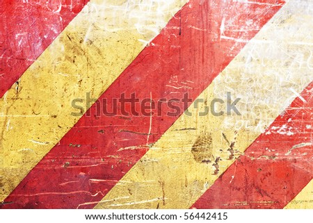 Grungy red and yellow stripes