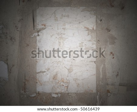 Grungy reminiscence of a poster - stock photo