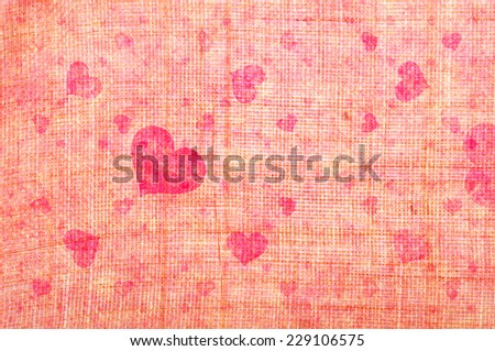 Grungy romantic heart shape background  - stock photo