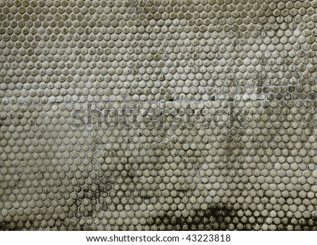 grungy round tile surface texture