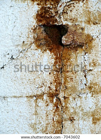 Grungy rust stains make an interesting textural background - stock photo