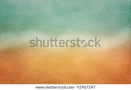 Grungy Sea Postcard.  Watercolor paper texture for artwork - stock photo
