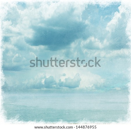 grungy sky background - stock photo