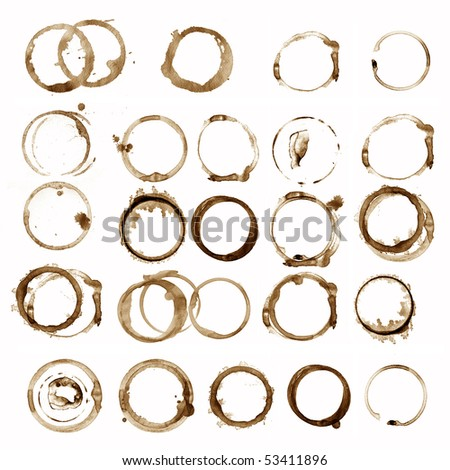Grungy stain collection - stock photo