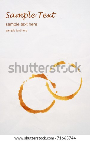 Grungy stains coffee on white background. isolated - stock photo