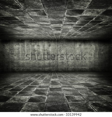 Grungy stone dungeon - stock photo