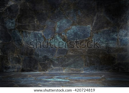Grungy stone room - stock photo