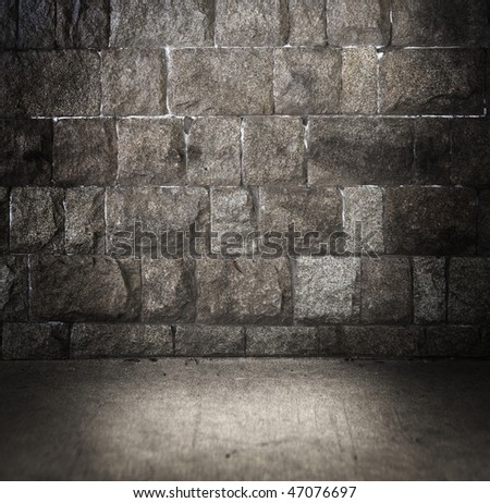 Grungy stone space - stock photo