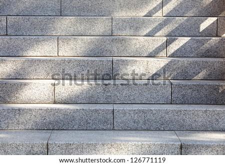 Grungy stone stairway - stock photo