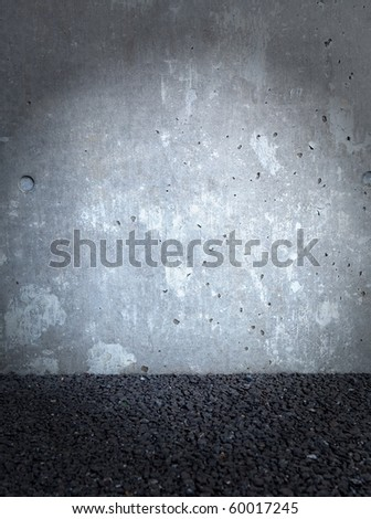 Grungy stone wall - stock photo
