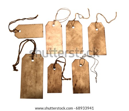 Grungy tags - stock photo