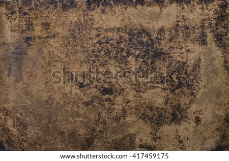 grungy texture of a vintage bookcover with stains, scratches and wrinkles - stock photo
