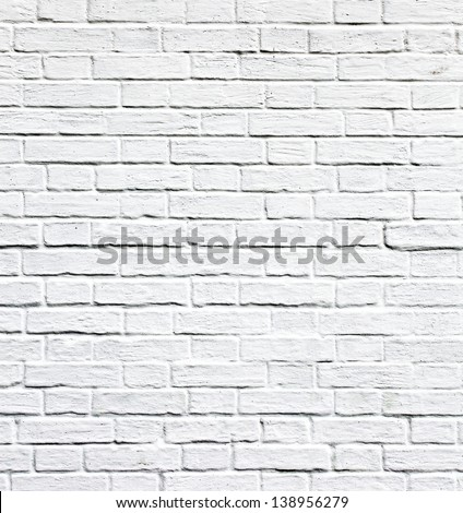 Grungy textured white horizontal stone and brick paint architecture wall inside old neglected and deserted interior, masonry and carpentry brickwork concept - stock photo