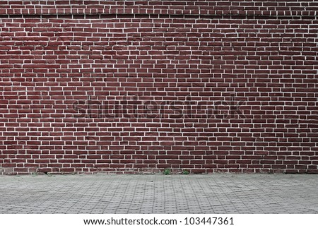 grungy urban background of a brick wall - stock photo