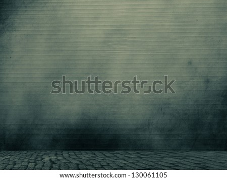 Grungy wall and floor. - stock photo