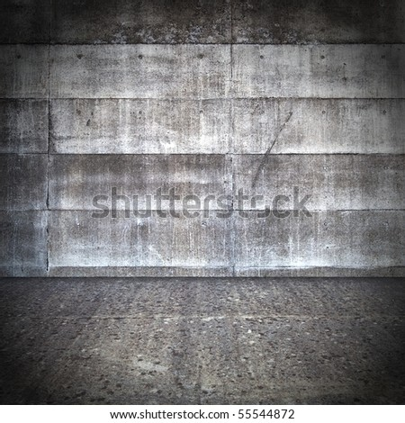 Grungy wall and floor - stock photo