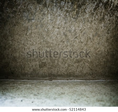 Grungy wall and floor texture - stock photo
