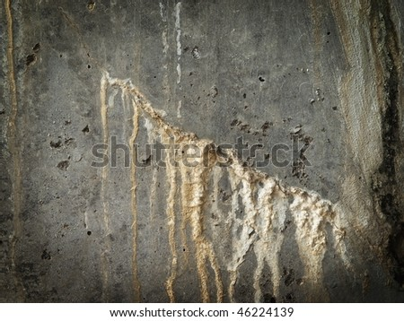 Grungy wall with chemical leak