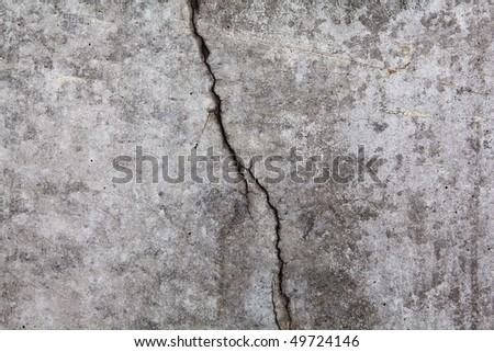 Grungy wall with large crack