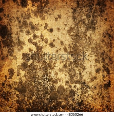 Grungy wall with stains