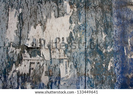 Grungy wood paneling in the Lower East Side of Manhattan, New York, NY, USA. - stock photo