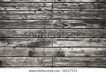 Grungy wooden paneling or floor - stock photo