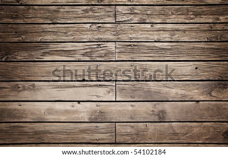 Grungy wooden paneling or flooring. - stock photo