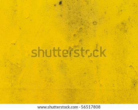 Grungy yellow paint wall texture