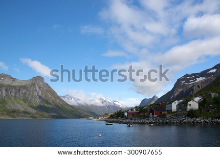 Gryllefjord is a fishing village on the island of Senja, in Troms county, Norway. It is located along the Gryllefjorden in the northern part of the municipality.